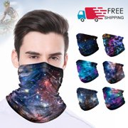 Lightweight Balaclavas Headwear Half Face Mask Mouth Mask Multi-use Starry Sky Face Scarves Bandana Face Mask Outdoor Cycling Hiking Motocycle Ski Snowboards Neck Warmer Hat Tactical Neck Gaiter