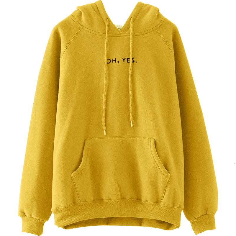New Fashion Woman Girls' Hooded Sweatshirt Tops Casual Hoodies Letter Printed with 2 Pockets and DrawString US Size 4-6-8-10