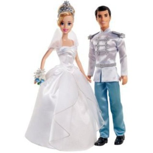 Disney Princess Cinderella & Prince Charming Fairytale Wedding Dolls Set