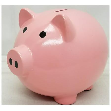 Pink Ceramic Piggy Bank Large 8