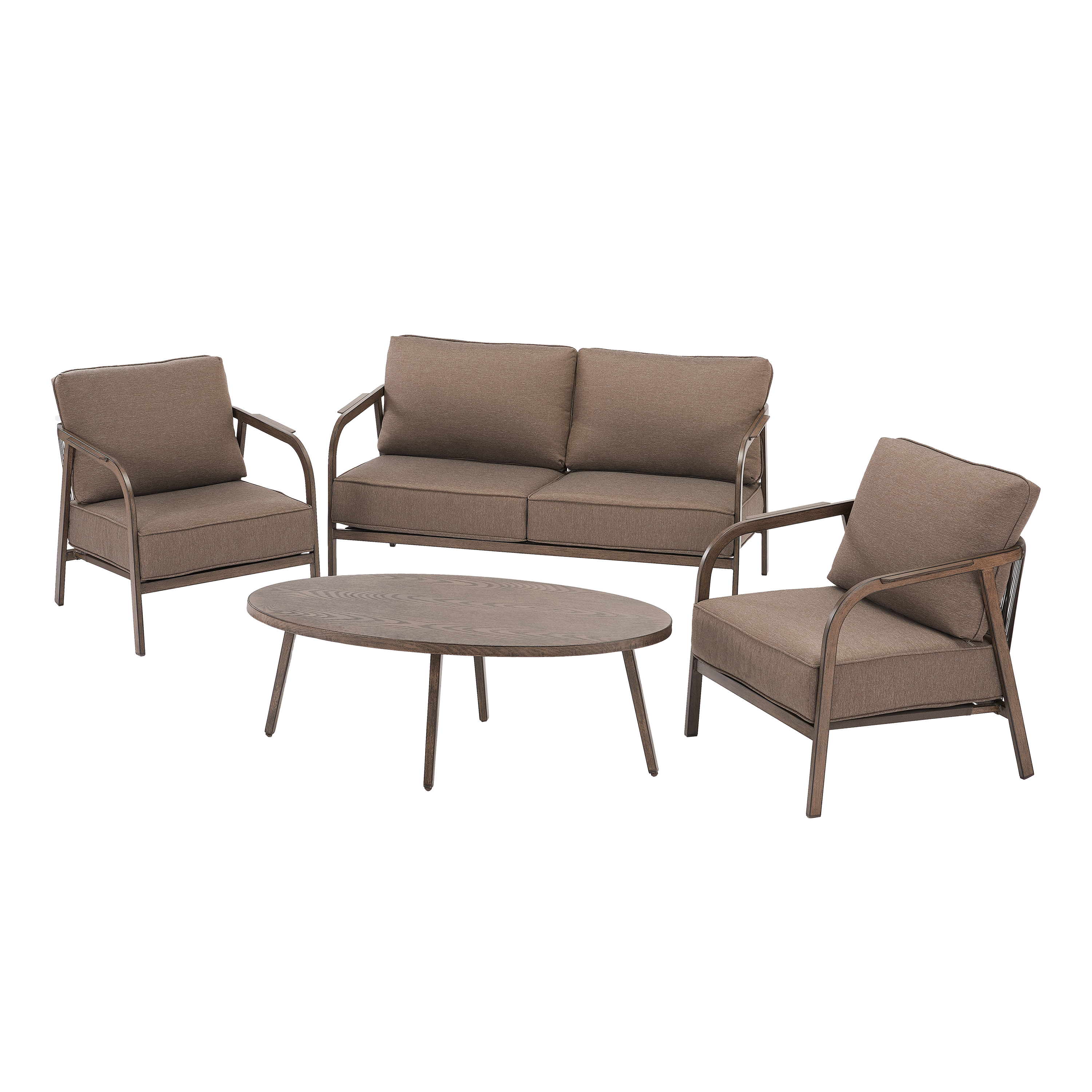 Tremendous Better Homes Gardens Arlo 4 Piece Patio Loveseat Set With Ocoug Best Dining Table And Chair Ideas Images Ocougorg