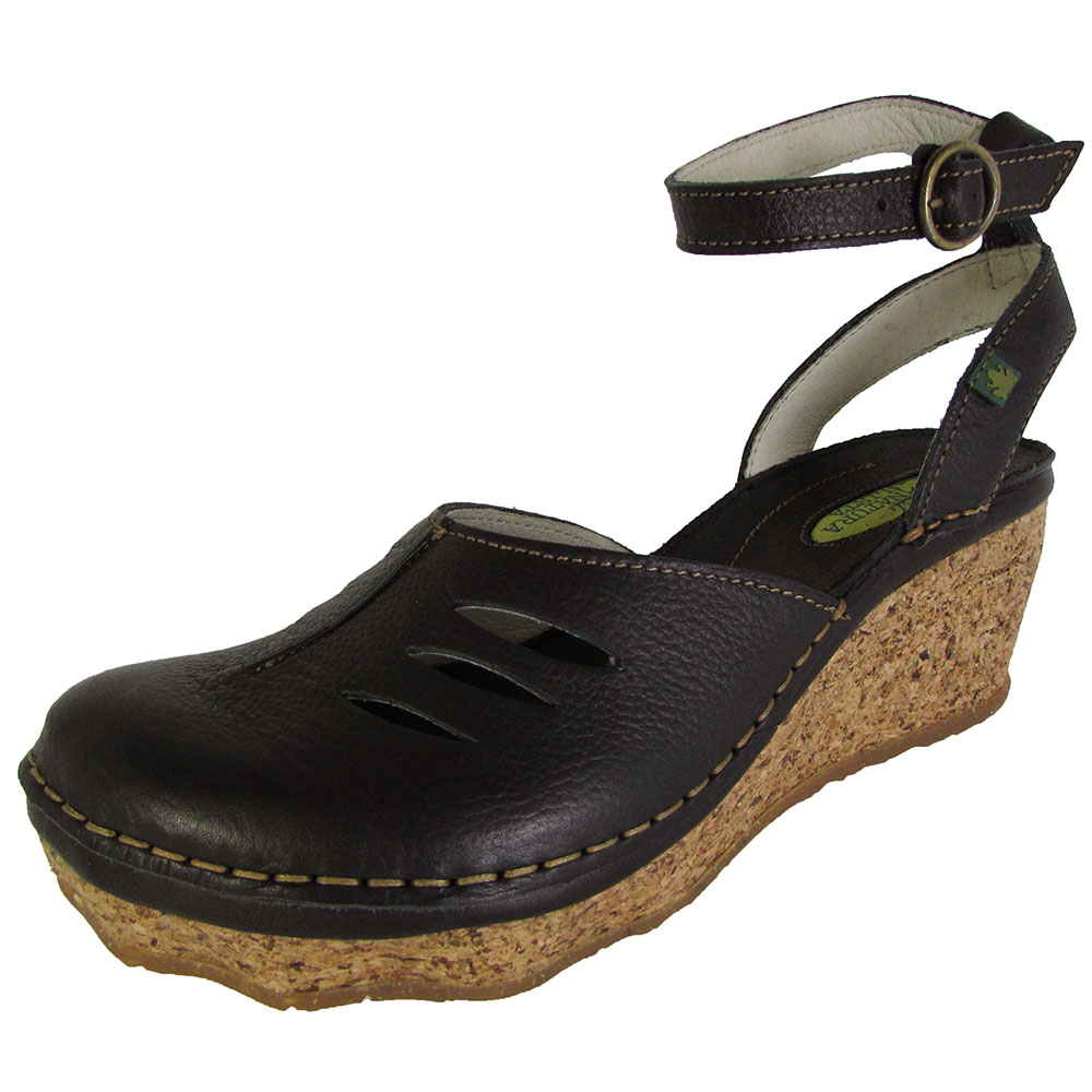 El Naturalista Womens N401 Cork Oak Wedge Sandal Shoes