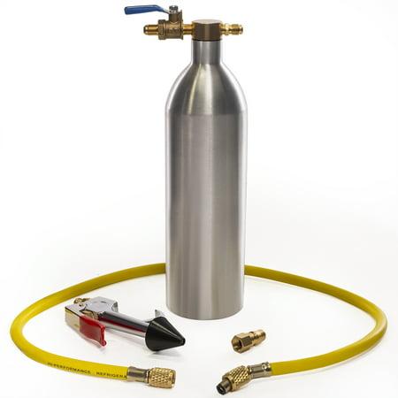 XtremepowerUS A/C Flush Kit AC Air Conditioner System Flush Gun Kit Car Cleaning Tool for R134 R12 R22 R410 R404, AC Flushing Set