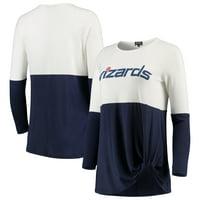 Washington Wizards Women's In It To Win It Colorblock Long Sleeve T-Shirt - Navy