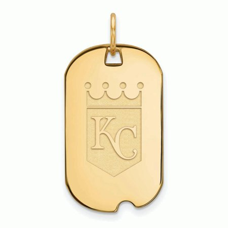 Kansas City Royals Women's Gold-Plated Small Dog Tag Necklace - No (Best Hot Dogs In Kansas City)