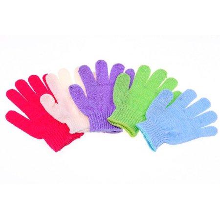 Mosunx 5Pcs Shower Gloves Exfoliating Wash Skin Spa Bath Gloves Foam Bath Skid Resistance Body Massage Cleaning Loofah Scrubber