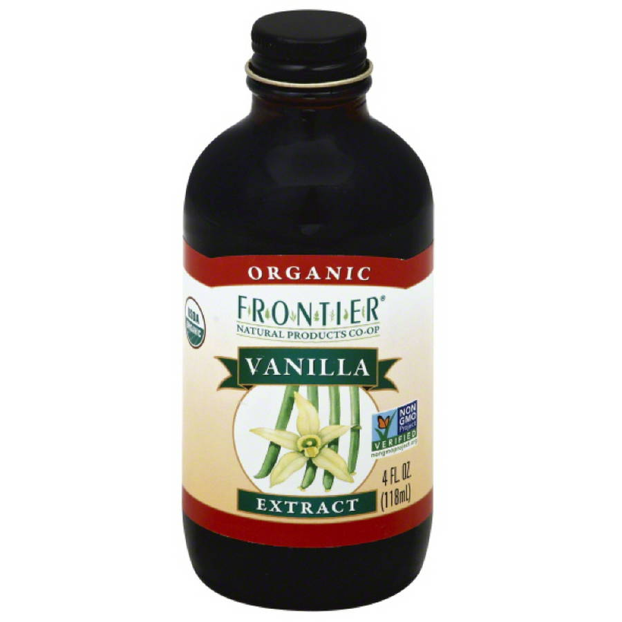 Frontier Natural Products Co-Op Organic Vanilla Extract, 4 fl oz, (Pack of 12)