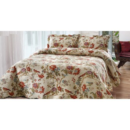 Finch Orchard Oversized Quilt Set by Bay Colony by Patch -