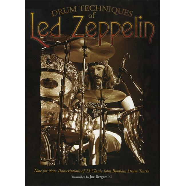 Alfred 00-DF0013A Drum Techniques of Led Zeppelin - Music Book