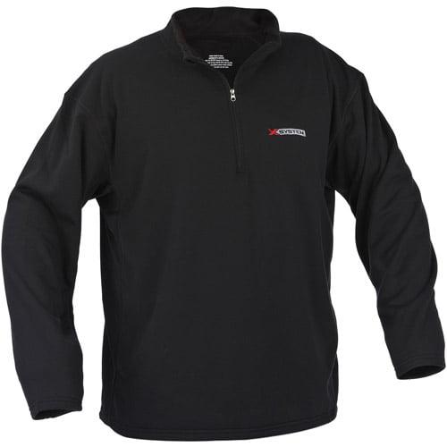X-System Heavyweight Fleece Pullover, Black