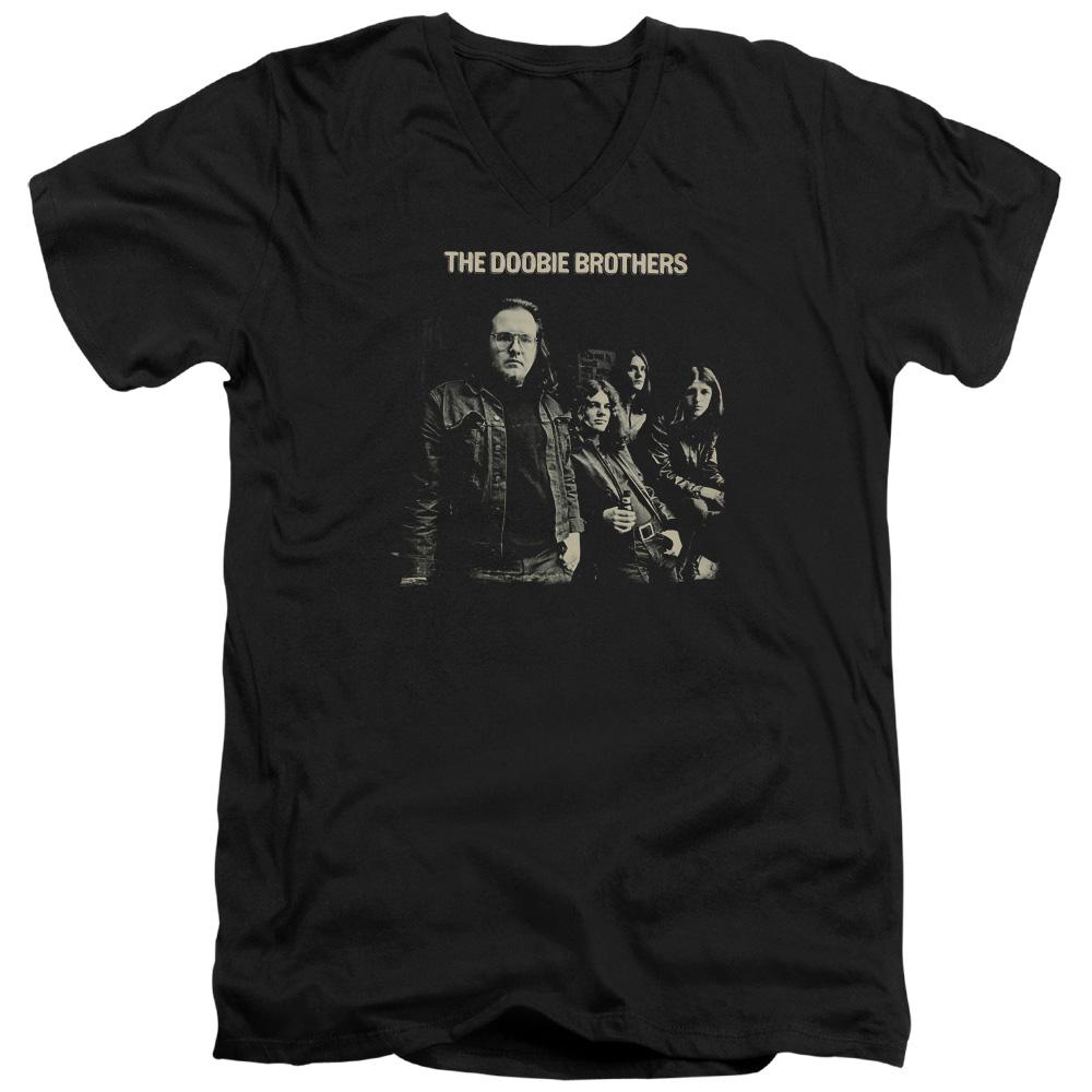 Doobie Brothers 1970's Rock Band Self Titled Studio Album Adult V-Neck T-Shirt