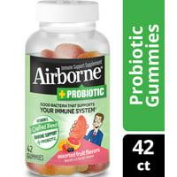 Airborne Vitamin C Plus Probiotic Gummies, Assorted Fruit, 750mg, 42Ct