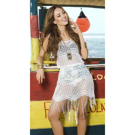 Breezy Boho Beach Dress Grupo Espiral 7794 White