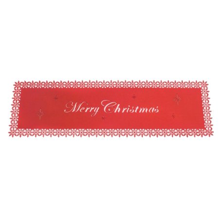"Set of 6 White and Red ""Merry Christmas"