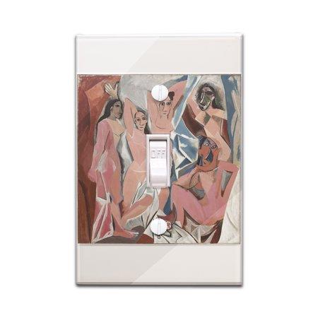 Les Demoiselles d'Avignon - Masterpiece Classic - Artist: Pablo Picasso c.1907 (Light Switchplate Cover)
