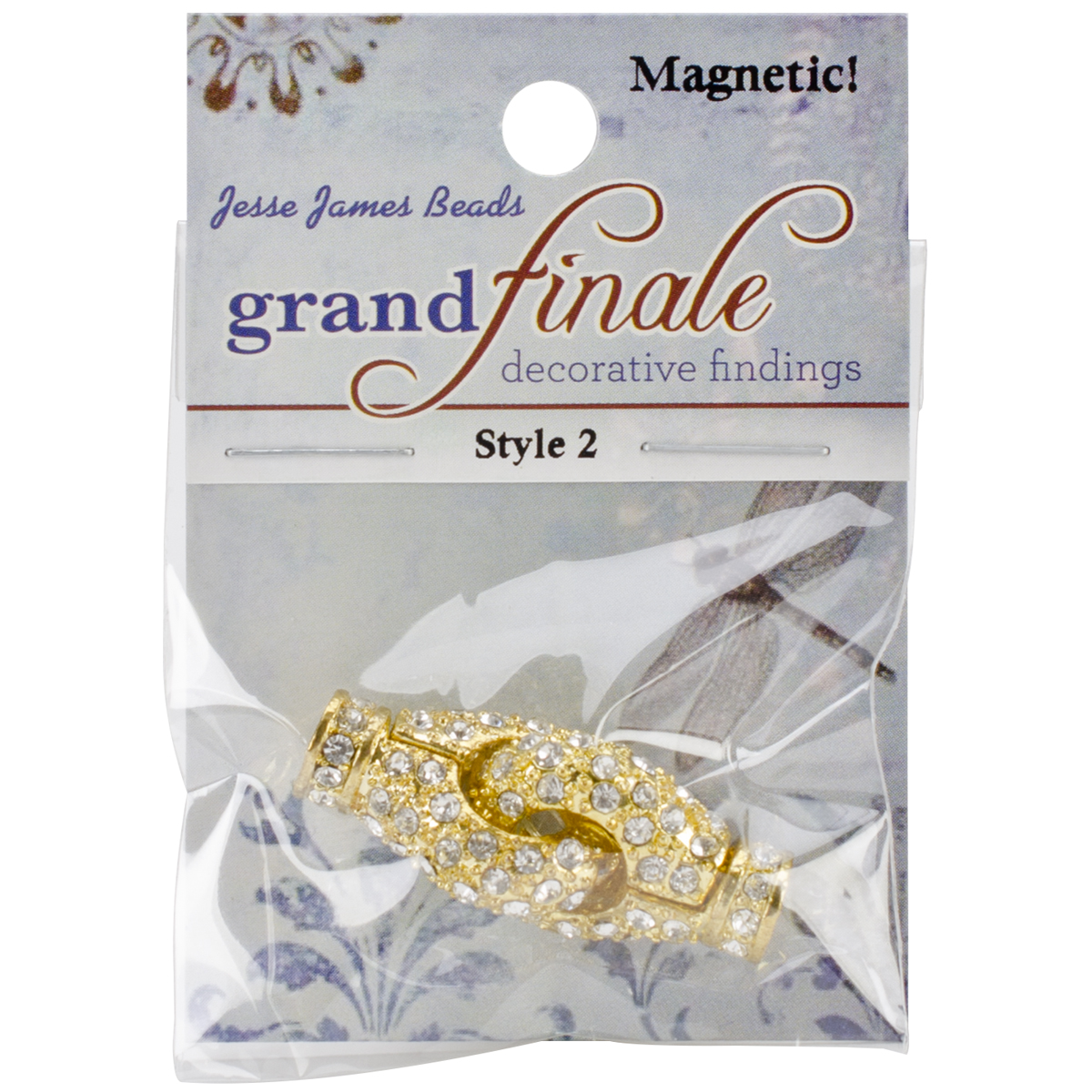 Grand Finale Magnetic & Rhinestone Clasps-Style 2 4/Pkg