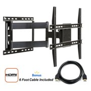 atlantic full motion tv wall mount for 37 84 tvs with hdmi cable. Black Bedroom Furniture Sets. Home Design Ideas