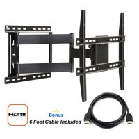 "Atlantic Full Motion Articulating TV Wall Mount with HDMI Cable for 37""-84"" TVs"