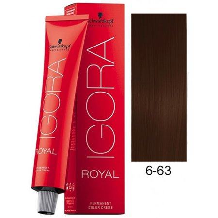Schwarzkopf Igora Royal Permanent Hair Color Creme Tube 6-63 Dark Blonde Chocolate