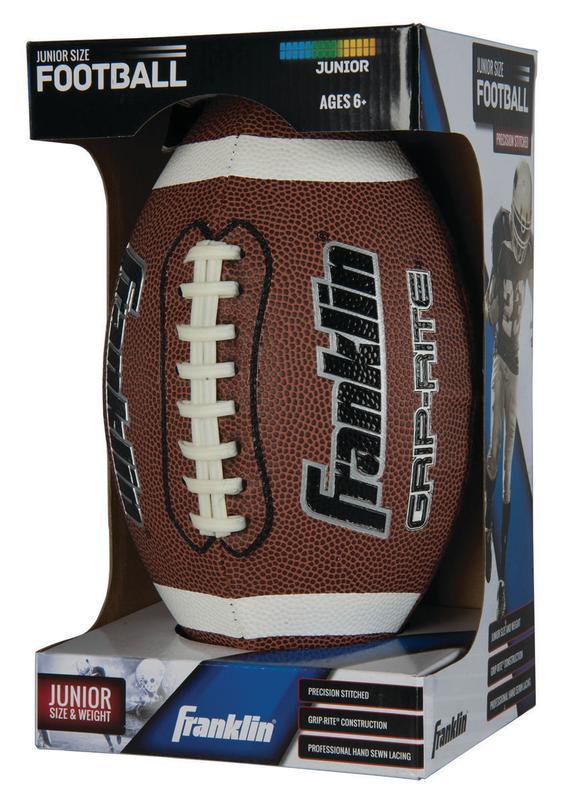 Franklin Sports Junior Grip-Rite PVC Football by Franklin Sports