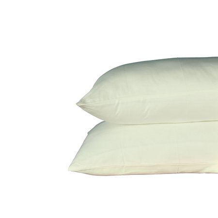 Just Linen 250 Thread Count 100% Cotton Sateen, Solid Pistachio Green, Pack Of 4 Queen Pillow Cases