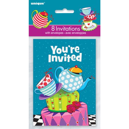 Alice in Wonderland Tea Party Invitations, 8-Count - Words For A Halloween Party Invitation