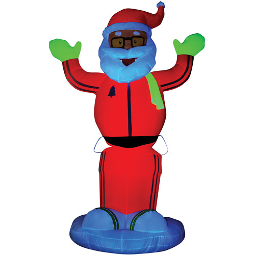 Life-Size Airblown Animated Neon Dancing Santa Prop
