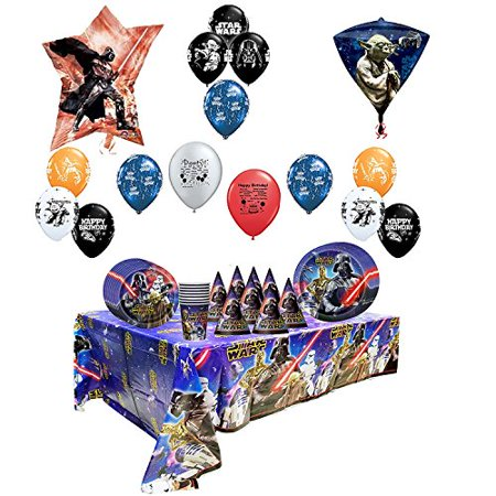 Star Wars Birthday Balloons and Party Pack - Star Wars Party Supplies Clearance