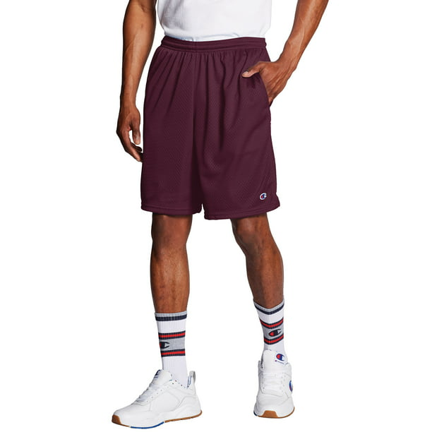 Champion Men's Long Mesh 9-Inch Shorts with Pockets