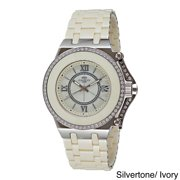 Oniss Women's ON669-L Stainless Steel Fantasy Collection Watch Silver tone/Ivory