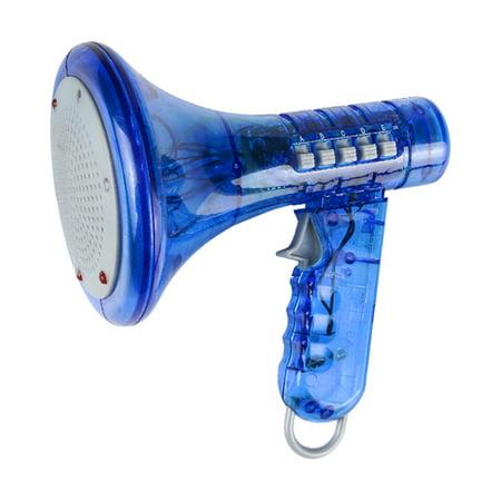 Blue Megaphone Voice Changer Speech Effect Modifier - Halloween Voice Changer App