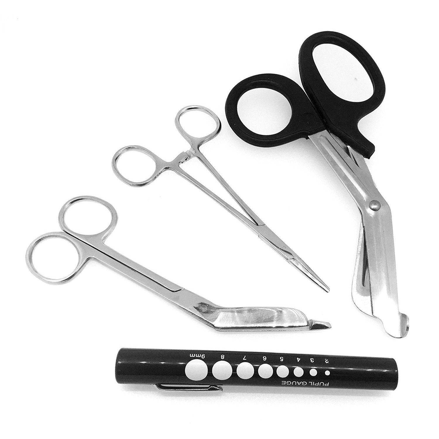 EMT/ Paramedic Tools with Medical Bandage Scissors and Shears + Penlight