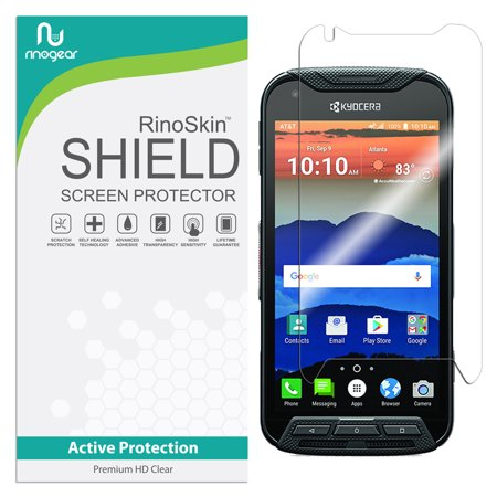 Kyocera Duraforce Pro Screen Protector RinoGear Flexible HD Crystal Clear  Anti-Bubble Unlimited Replacement Film