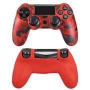 EEEkit Camouflage Silicone Gel Controller Cover Skin Protector Compatible for Sony Playstation 4 PS4/PS4 Slim/PS4 Pro Controller (2X Controller Camouflage Cover with 8 x FPS Pro Thumb Grip Caps)
