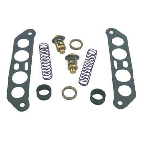 Sierra 18-3673 Thermostat Kit (V4 Crossflow) for Select Johnson/Evinrude Outboard Marine Engines