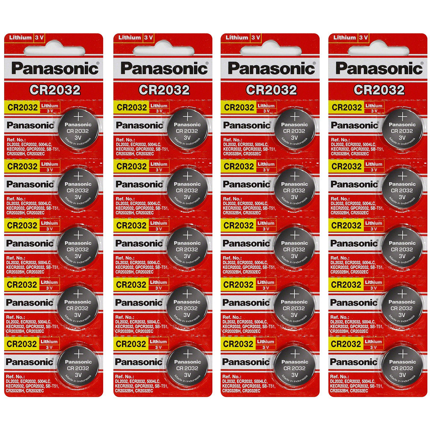 Panasonic Cr2032 3 Volt Lithium Coin Cell Battery 20