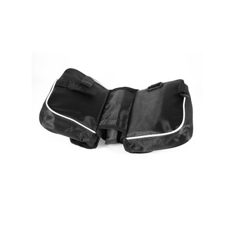 Black Nylon Mesh Cycling Front Bicycle Saddle Reflective Two Side Bag Pouch - image 1 of 3