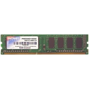 Products Memory Modules (Patriot Memory Signature 4GB DDR3 1333MHz PC3-10600 DIMM Memory Module,)
