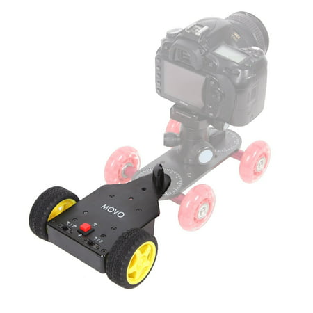 Movo Photo DMA100 Motorized Push Cart/Trailer for Table Top Video Camera Skater Dollies ()
