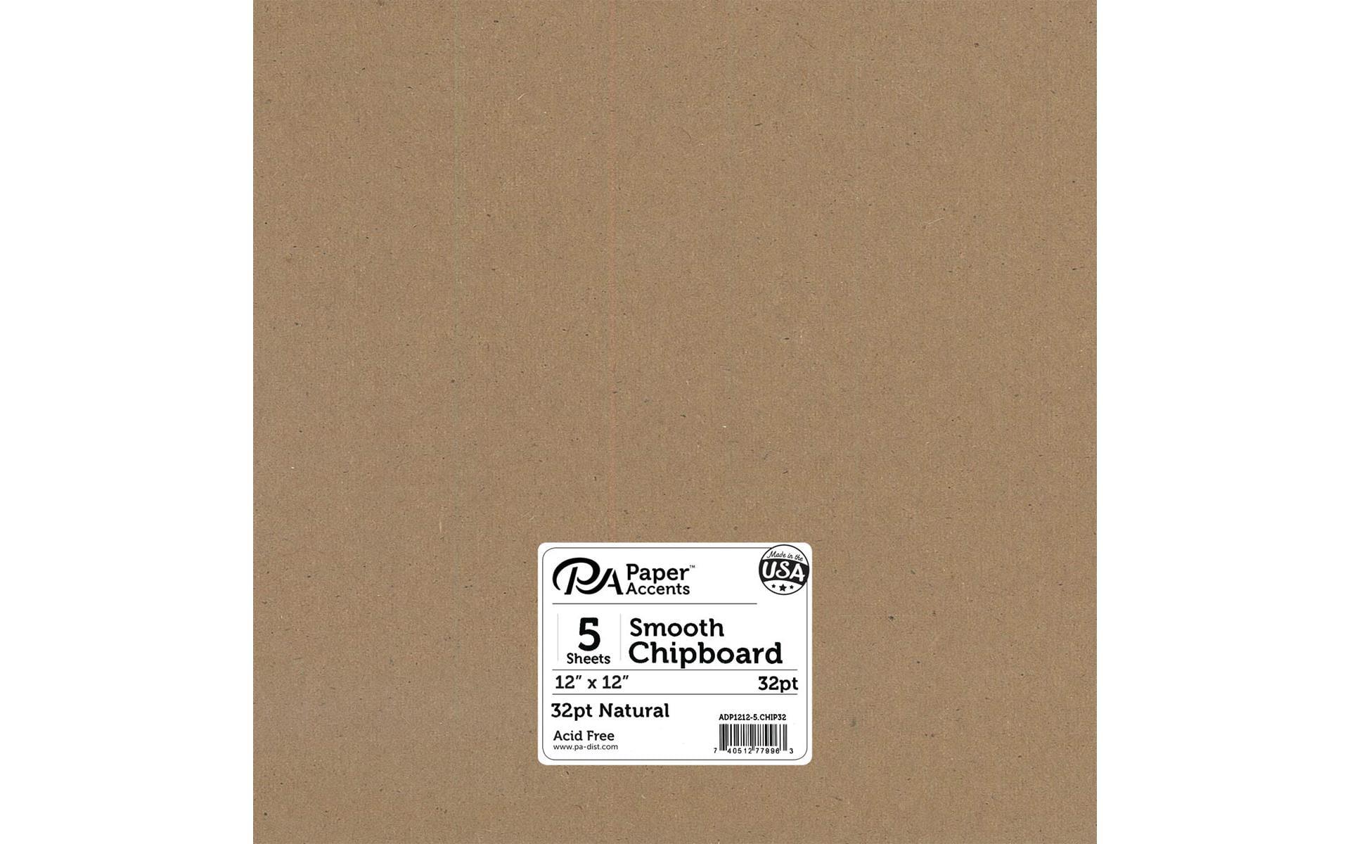 Accent Design Paper Accents Chipboard 8x8 2X Heavy 90pt Black 2pc