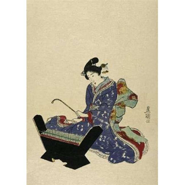 Bentley Global Arts PDX280585LARGE Mokkin - Wooden Xylophone Poster Print by Utagawa Toyokuni, 20 x 28 - Large - image 1 of 1