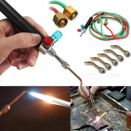 Co2 Welding Gas Cylinder (Okeba Jewelers Jewelry Mini Micro Gas Torch Welding Soldering Cutting Tools Kits with 5)