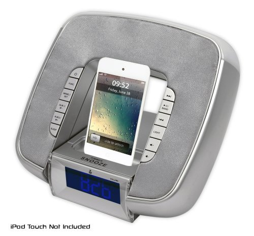 Pyle PICL29S Portable Ipod/ Iphone Dock-alarm Clock