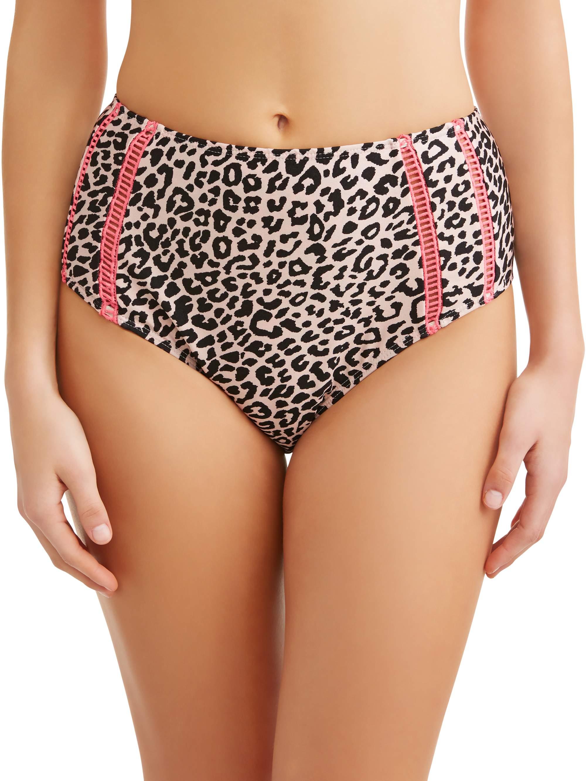 Juniors' Catwalk High Waist Swimsuit Bottom