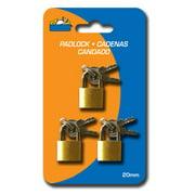 Best Lock Keys - 3 Small Metal Padlocks Mini Brass Tiny Box Review