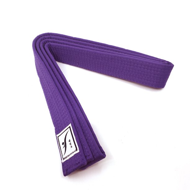 The Elixir Karate Belt Taekwondo Judo Solid Rank Karate Martial Arts Belts Tkd Jujitsu Bjj Aikido Kempo Rank Belt Size 000 74 8 Inch Purple Walmart Com Walmart Com