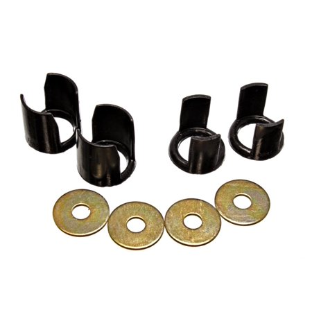 Energy Suspension 89-94 Nissan 240SX (S13) Black Rear Subframe Insert Set - a supplement to the subf