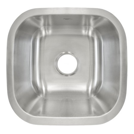 Undermount Stainless Steel Single Bowl Bar or Prep Sink L103 Stainless Steel Prep Sink