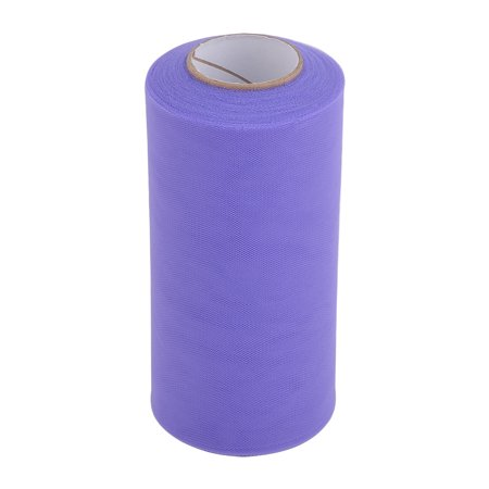 Bride Polyester Sewing Wedding Dress Tulle Spool Roll Purple 6 Inch X 25 Yards