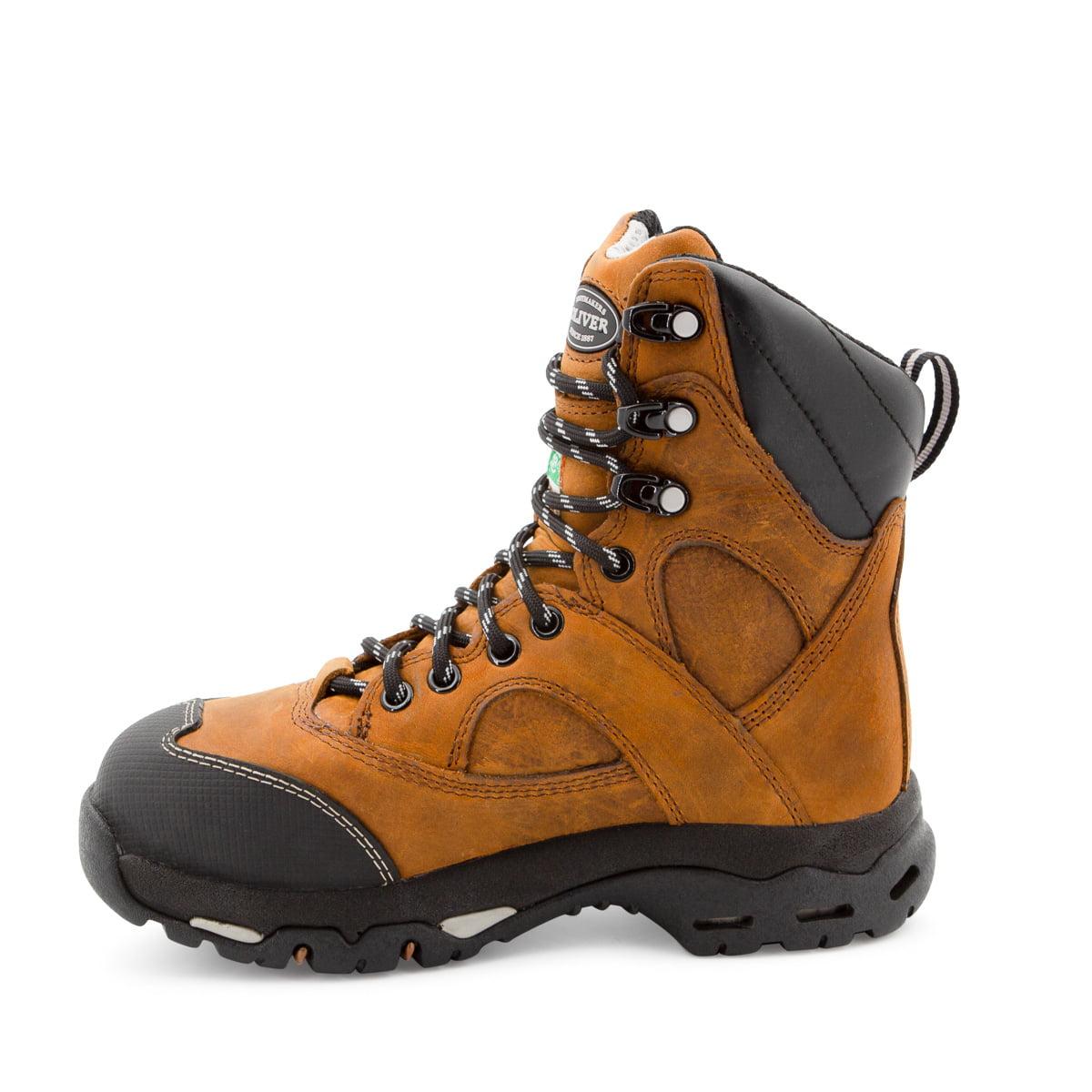Women Steel Toe Work Boots Leather